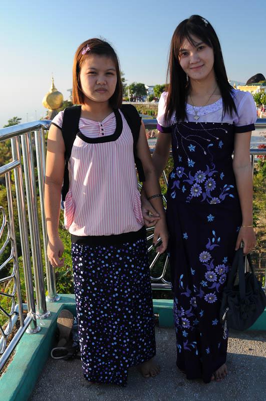 Damen, Golden Rock, Goldener Felsen von Kyaiktiyo, Kyaikhtiyo, Myanmar, Burma, Birma, Pilgerfahrt, Pagode, Pagoda, Tempel, Reisebericht, www.wo-der-peffer-waechst.de