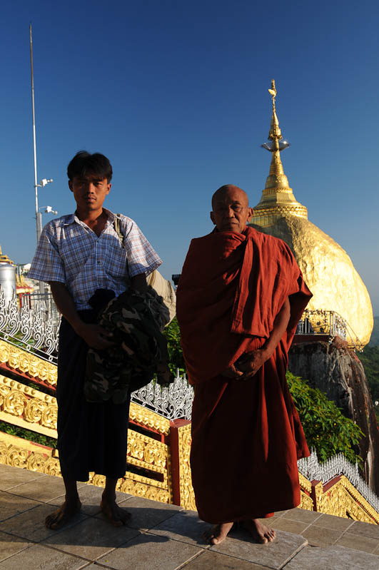 Golden Rock, Goldener Felsen von Kyaiktiyo, Kyaikhtiyo, Myanmar, Burma, Birma, Pilgerfahrt, Pagode, Pagoda, buddhistischer Mönch, Tempel, Reisebericht, www.wo-der-peffer-waechst.de