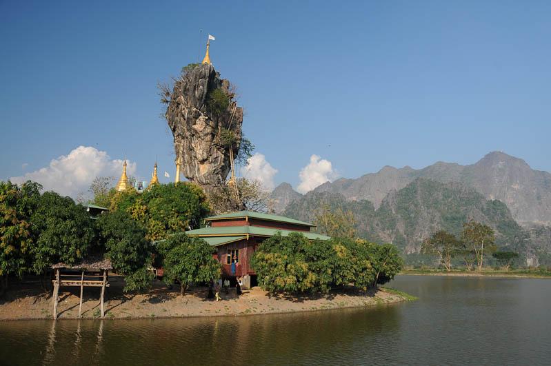 Kyauk Ka Lat-Pagode, Hpa An, Karen, Kayin, Staat, State, Holzleitern, Myanmar, Burma, Birma, Reiseberichte, www.wo-der-pfeffer-waechst.de