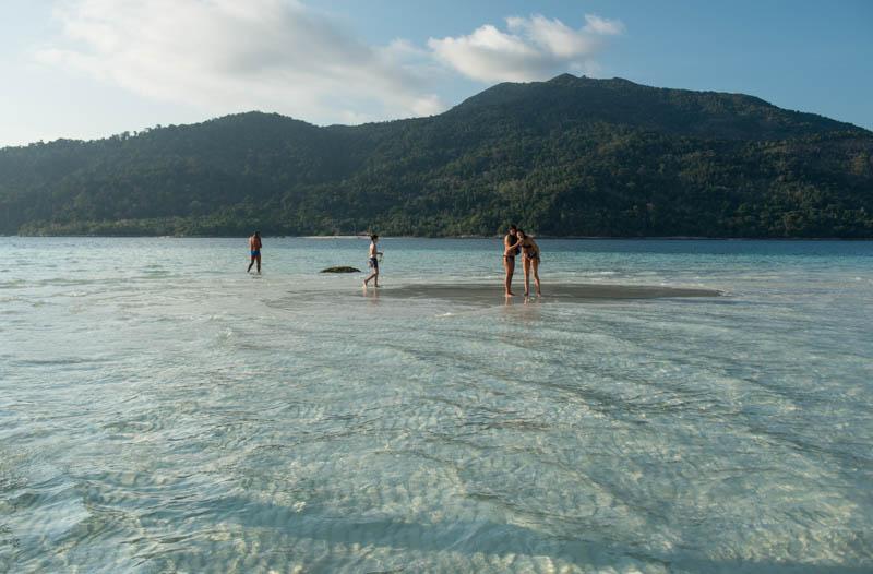 Koh Lipe, Thailand, Sandbank, Lagune, Strand, Strände, Sunrise Beach, Insel, Adang-Archipel, Tarutao-Nationalpark, Reise, Fotos, Bilder, Reiseberichte, www.wo-der-pfeffer-waechst.de