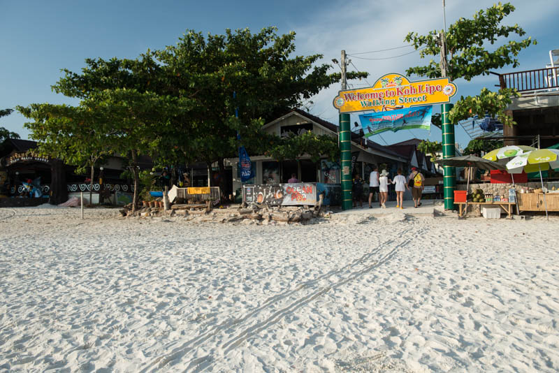 Koh Lipe, Ko Lipe, Thailand, Insel, Walking Street, Eingang, entry, Pattaya Beach, Strand, Reiseberichte, www.wo-der-pfeffer-waechst.de