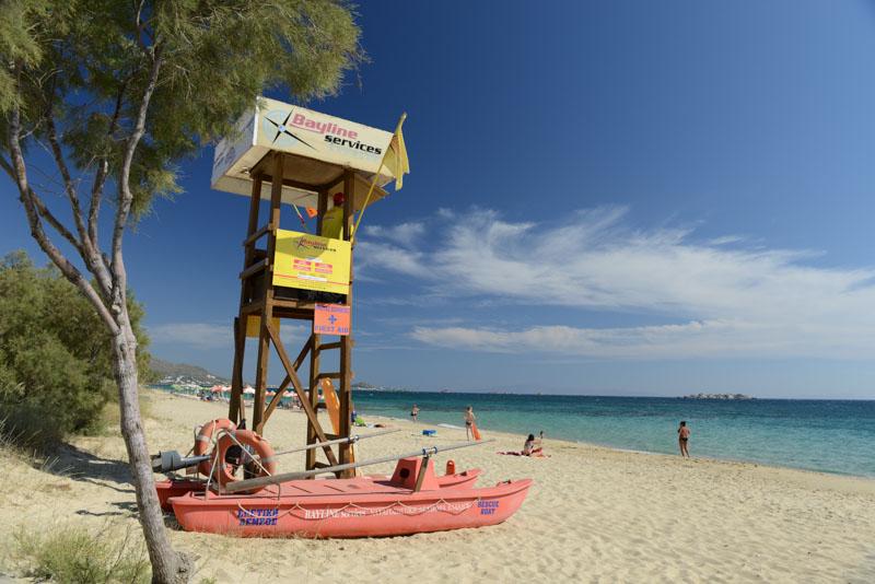 Naxos, Plaka Beach, Strand, Strände, Maragas, Rettungsschwimmer, Kykladen, Griechenland, Inselhüpfen, Island-Hopping, griechische, Inseln, Mittelmeer, Bilder, Fotos, Reiseberichte, www.wo-der-pfeffer-waechst.de