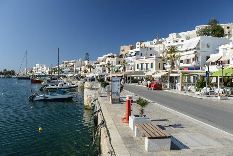Naxos, Chora, Naxos-Stadt, Hafenpromenade, Kykladen, Griechenland, Inselhüpfen, Island-Hopping, griechische, Inseln, Mittelmeer, Bilder, Fotos, Reiseberichte, www.wo-der-pfeffer-waechst.de