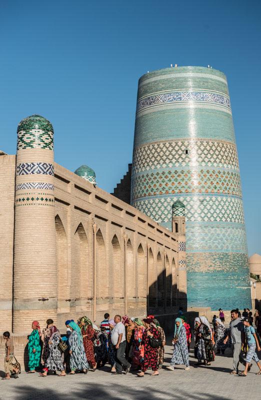 Chiwa, Khiva, Chiva, Xiva, Usbekistan, Uzbekistan, Kalta-Minor-Minarett, Seidenstraße, Reiseberichte, www.wo-der-pfeffer-waechst.de
