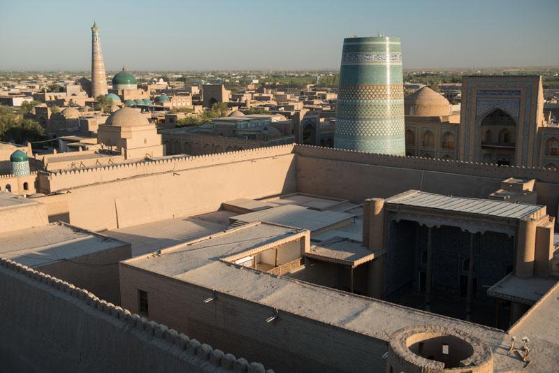 Chiwa, Khiva, Chiva, Xiva, Usbekistan, Uzbekistan, Westtor, Altstadt, Aussichtspunkt, viewpoint, Seidenstraße, Reiseberichte, www.wo-der-pfeffer-waechst.de