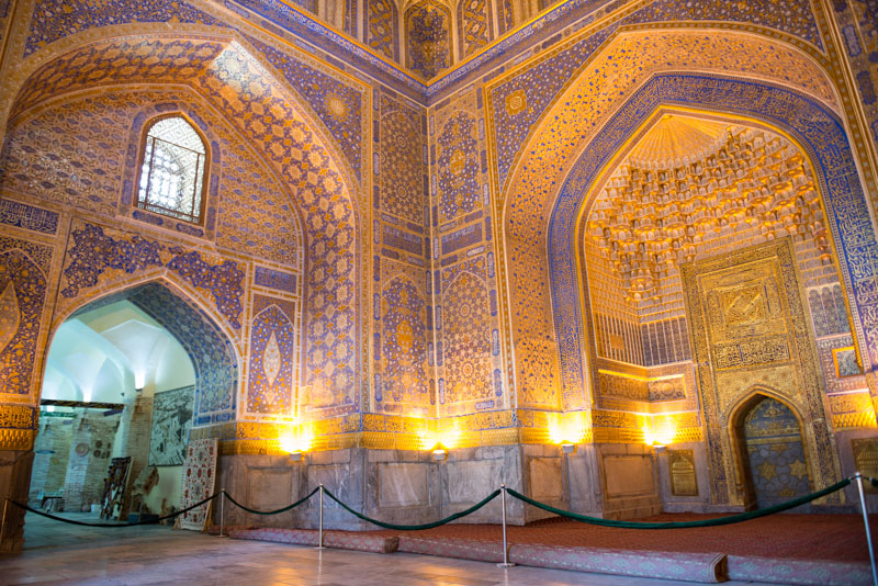 Samarkand, Samarqand, Reisen, entlang der, Seidenstraße, Usbekistan, Zentralasien, Registan, Registran, Registon, Tilya-Kori-Medresse, Sherdor, Madrasa, Reiseberichte, www.wo-der-pfeffer-waechst.de