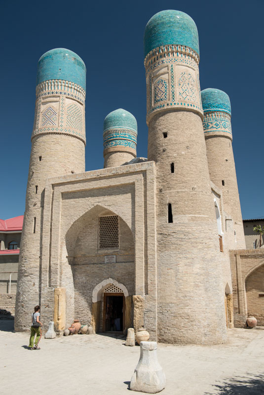 Buchara, Bukhara, Buxoro, Reisen, entlang der, Seidenstraße, Usbekistan, Zentralasien, Tschor-Minor-Medresse, Madrasa, Reiseberichte, www.wo-der-pfeffer-waechst.de