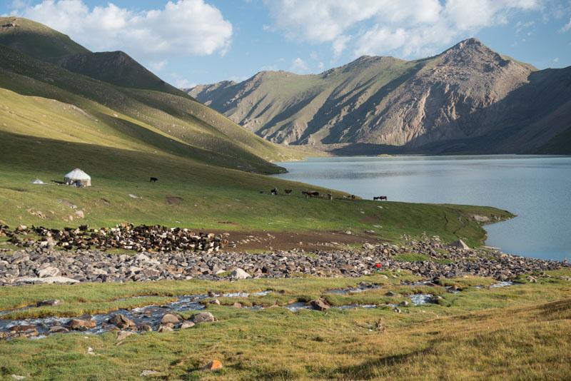 Kochkor, Köl-Ükök, See, Lake, Trekking, Kirgisistan, Kirgistan, Kirgisien, Jurten, kirgisische Nomaden, Schafherde, Seidenstraße, Zentralasien, Reiseberichte, www.wo-der-pfeffer-waechst.de