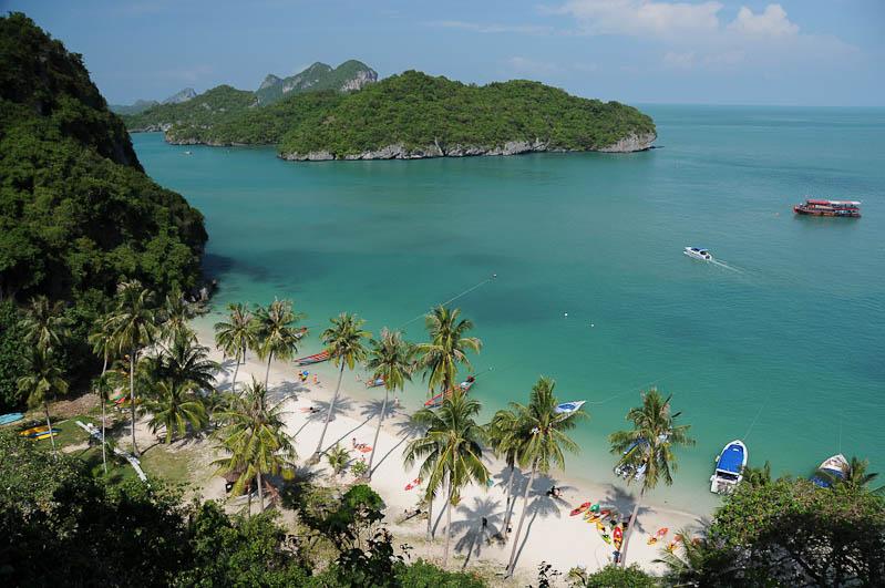Thailand-Reise, Insel, Ang Thong National Marine Park, Tour, Trip, Koh Wua Talap, Viewpoint, Aussichtspunkt, Beach, Strände, Reisen mit Kindern, Babys, Kleinkindern, Elternzeit, Asien, Reiseberichte, Reiseblogger, www.wo-der-pfeffer-waechst.de