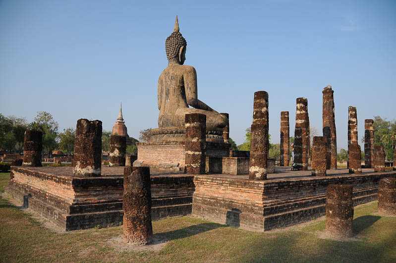 Sukhothai, Historical Park, Thailand, UNESCO-Weltkulturerbe, Wat Mahathat, Tempel, Ruinen, Buddha, Ausflüge, Reisetipps, Reisen mit Kindern, Babys, Kleinkindern, Elternzeit, Asien, Reiseberichte, Reiseblogger, www.wo-der-pfeffer-waechst.de