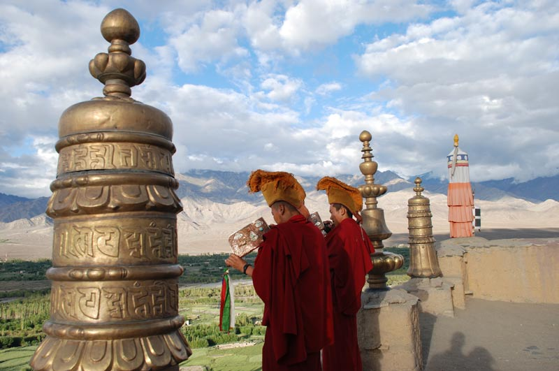 Thiksey, Thikse, Tikse Tiksey, Thiksey-Gompa, Kloster, Puja, Ladakh, Indien, indischer Himalaya, Himalaja-Gebirge, Leh, Indus-Tal, Reisetipps, Rundreisen, Asien, Reiseberichte, Reiseblogger, www.wo-der-pfeffer-waechst.de