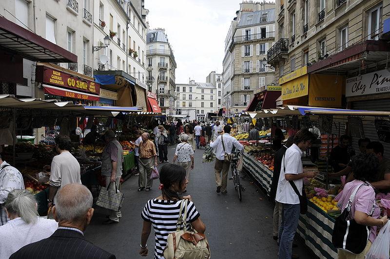 Marche d'Aligre, Paris, Frankreich, Märkte, Delikatessen, Frankreich, Fußball, Essen
