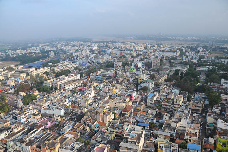 Tamil Nadu, Tempeltour, Südindien, Tiruchirappalli, Trichy, Rock-Fort-Tempel, Aussicht, Reisetipps, Rundreisen, Asien, Reiseberichte, Reiseblogger, www.wo-der-pfeffer-waechst.de