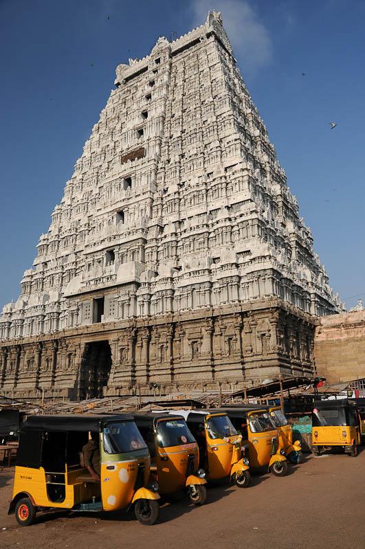 Tiruvannamalai, Arunachaleswar-Tempel, Gopuram, Tamil Nadu, Tempeltour, Südindien, Reisetipps, Rundreisen, Asien, Reiseberichte, Reiseblogger, www.wo-der-pfeffer-waechst.de
