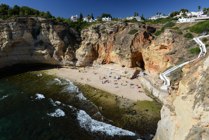 Praia do Paraiso, Carvoeiro, Algarve, Portugal, Strand, schönste Strände, best beaches, Felsalgarve, Beach-Hopping, Reisen mit Kindern, Südeuropa, Bilder, Fotos, Reiseberichte, Sommerurlaub, www.wo-der-pfeffer-waechst.de