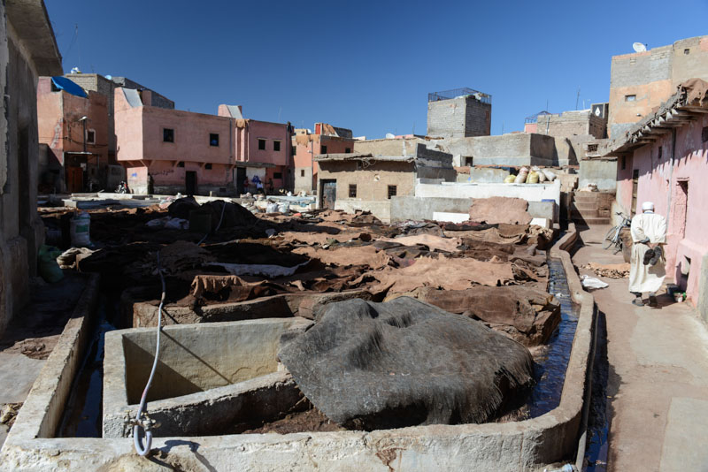La Tannerie, Gerbereien, Marrakesch, Marokko, Medina, Altstadt, Reisebericht, Reisetipps, Afrika, Reiseblogger, www.wo-der-pfeffer-waechst.de