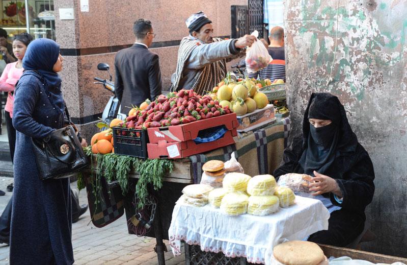 Marrakesch, Marokko, Medina, Markt, verschleierte Frauen, Altstadt, Reisebericht, Reisetipps, Reiseblogger, www.wo-der-pfeffer-waechst.de