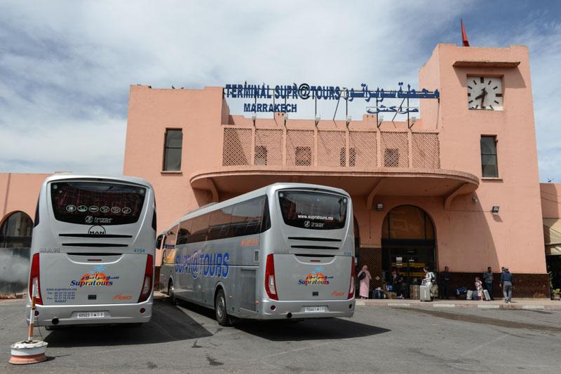 Supratours, Busbahnhof, Bus, Busstation, Marrakesch, Marokko, Anreise, Weiterreise, Reisebericht, Reisetipps, Afrika, Reiseblogger, www.wo-der-pfeffer-waechst.de