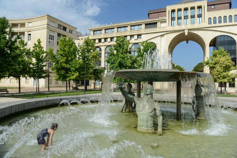 Antigone, Brunnen, Montpellier, Südfrankreich, France, Reisebericht, Städtetrip, mit Kindern, Städtereise, Urlaub, Reisetipps, Reiseblogger, www.wo-der-pfeffer-waechst.de