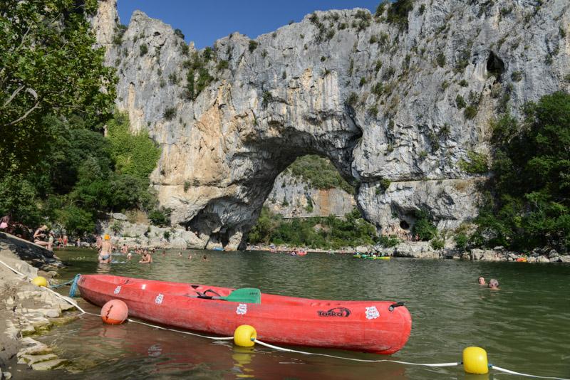 Ardèche, Pont d'Arc, Südfrankreich, Kanu, Kayak, Sommerurlaub, Reisebericht, mit Kind, Kinder, Südeuropa, Reiseblogger, www.wo-der-pfeffer-waechst.de