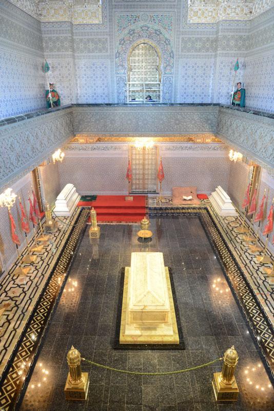 Mausoleum, Mohammed V., Grab, Rabat, Sehenswürdigkeiten, Marokko, Hauptstadt, Bilder, Infos, Reisebericht, Urlaub, Hotel, Reisetipps, Afrika, Reiseblogger, www.wo-der-pfeffer-waechst.de
