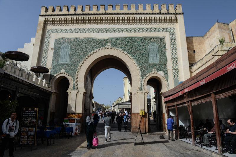 Fes, Fès, Fez, Marokko, Bab Boujloud, Bab Bou Jeloud, grünes Tor, Medina, Altstadt, Reisebericht, www.wo-der-pfeffer-waechst.de