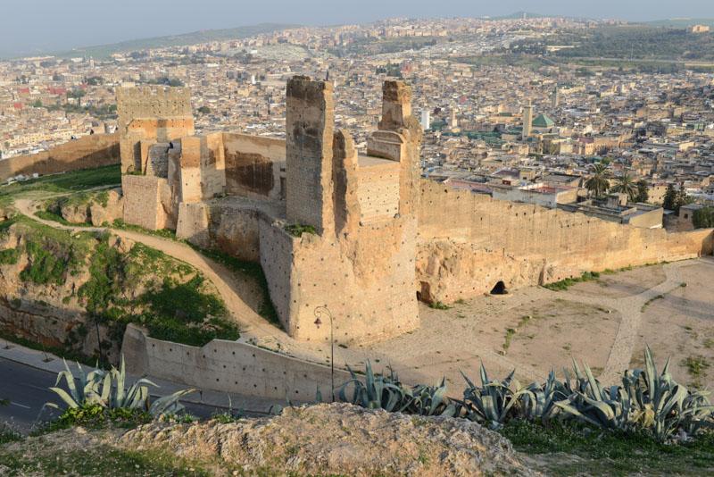 Fes, Fès, Fez, Marokko, Panoramablick, Medina, Altstadt, Merinidengräber, Ruinen, Reisebericht, www.wo-der-pfeffer-waechst.de