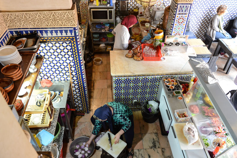 Fes, Fès, Fez, Marokko, Restaurant, marokkanische Küche, vegetarisch, Bab Boujloud, Medina, Altstadt, Reisebericht, www.wo-der-pfeffer-waechst.de