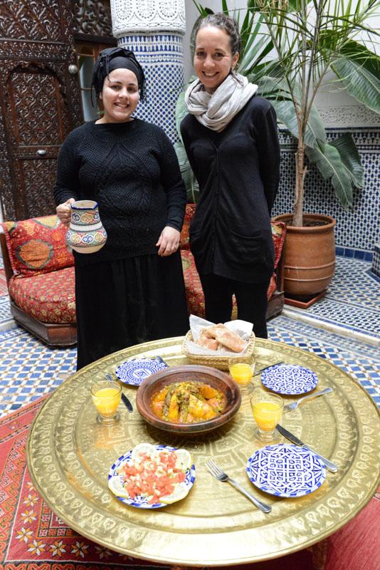 Kochkurs, Fes, Fès, Fez, Marokko, vegetarisches Tajine, Riad, Reisebericht, www.wo-der-pfeffer-waechst.de