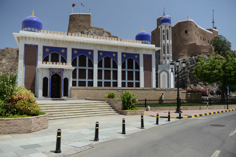 Maskat, Stopover, Muscat, Oman, Al-Khor-Moschee, Mirani-Fort, Reisebericht, www.wo-der-pfeffer-waechst.de