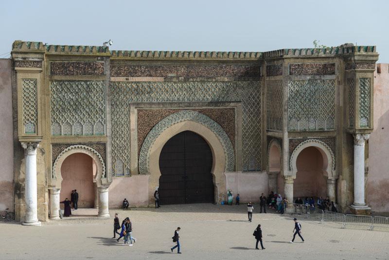 Meknes, Marokko, Bab al Mansour, Stadttor, Königsstädte, Reisebericht, www.wo-der-pfeffer-waechst.de