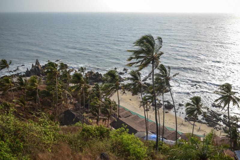 Arambol Beach, Goa, Strände, Norden, Strandurlaub, Nordgoa, Palmen, Reisen in Indien, India, travel, Südasien, Bilder, Fotos, Reiseberichte, www.wo-der-pfeffer-waechst.de