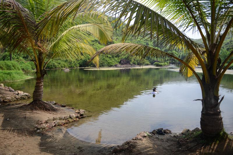 Sweetlake, Arambol, Kalacha Beach, Bilharziose, Süßwassersee, Reisen in Indien, travel in India, Südasien, Bilder, Fotos, Reiseberichte, www.wo-der-pfeffer-waechst.de