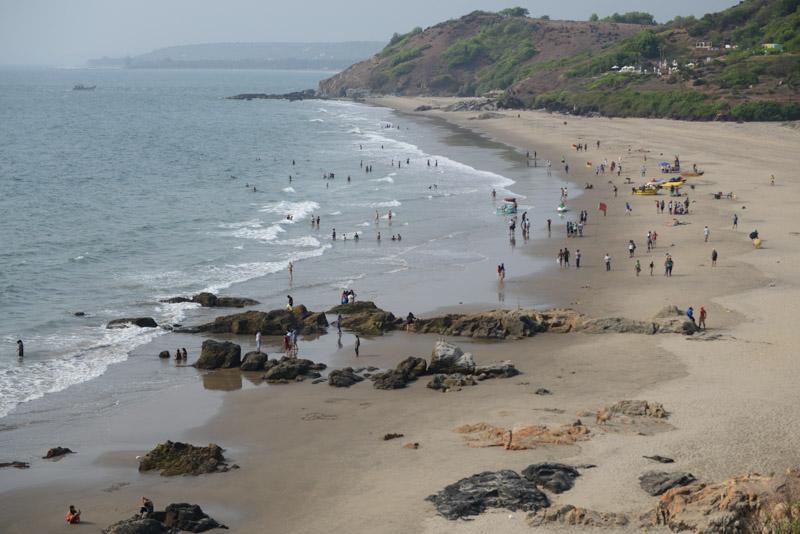 Big Vagator Beach, Goa, Strände, Indien, India, Reisen, Südasien, Bilder, Fotos, Reiseberichte, www.wo-der-pfeffer-waechst.de