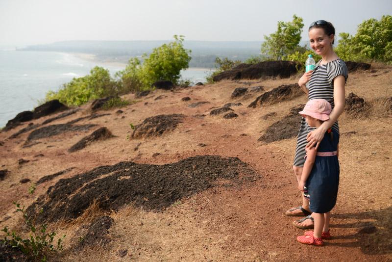 Chapora Fort, Vagator Beach, Ozran Beach, Morjim Beach, Goa, Strände, Indien, India, Reisen mit Kindern, Südasien, Bilder, Fotos, Reiseberichte, www.wo-der-pfeffer-waechst.de