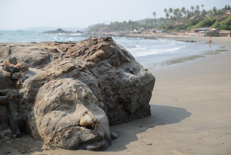 Vagator Beach, Ozran Beach, Little Vagator Beach, Goa, Strände, Shivas, Steingesicht, stone face, Indien, India, Reisen, Südasien, Bilder, Fotos, Reiseberichte, www.wo-der-pfeffer-waechst.de