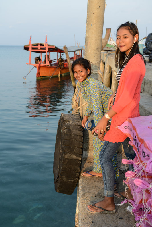 Koh Rong Samloem, Koh Rong Sanloem, M`Pai Bay, Mpai Bay, M-Pai Bay, Beach, Strand, Kambodscha, Inseln, Cambodia, Mädchen, Südostasien, Bilder, Fotos, Reiseberichte, www.wo-der-pfeffer-waechst.de