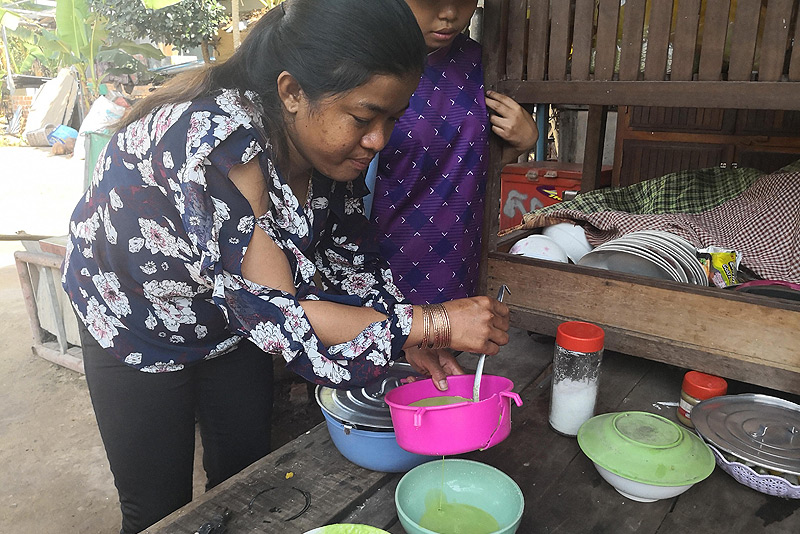 Dine With The Locals, Kambodscha, vegetarisches Essen, Küche, Rezepte, Khmer-Food, Num Chal, Khmer-Dessert, Sarath, Siem Reap, www.wo-der-pfeffer-waechst.de
