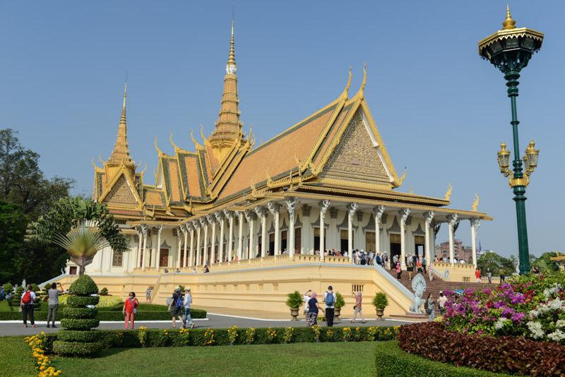 Königspalast, Phnom Penh, Reisebericht, Kambodscha, Hauptstadt, royal palace, Cambodia, Reisetipps, Sehenswürdigkeiten, Backpacking, Südostasien, Bilder, Foto: Heiko Meyer, www.wo-der-pfeffer-waechst.de