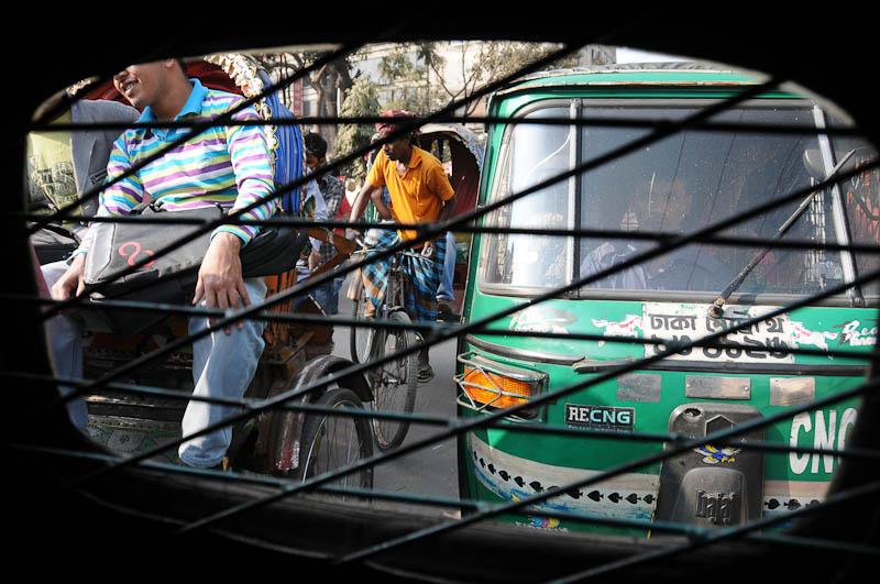 CNG, Babytaxi, Rikscha, Bangladesch, Verkehr, traffic, Reiseberichte, Foto: Heiko Meyer, www.wo-der-pfeffer-waechst.de
