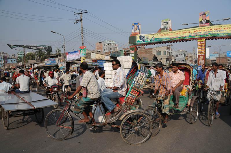 Fahrradrikscha, Bangladesch, Old Dhaka, Reiseberichte, Foto: Heiko Meyer, www.wo-der-pfeffer-waechst.de