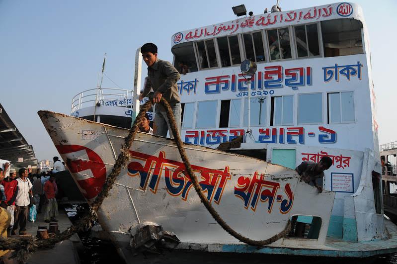 Sadarghat-Terminal, Old Dhaka, , Schiff, Fähre, Bangladesch, Reiseberichte, Foto: Heiko Meyer, www.wo-der-pfeffer-waechst.de