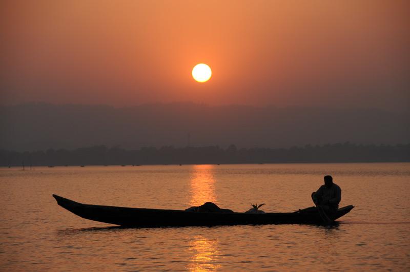 Rangamati, Chittagong Hill Tracts, Kaptai lake, See, Sonnenuntergang, sunset, Bangladesch, Reiseberichte, Foto: Heiko Meyer, www.wo-der-pfeffer-waechst.de