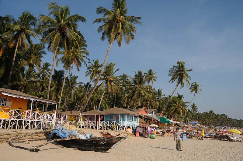 Palolem Beach, Goa, Strände, Strand, Südgoa, Beachfrontbungalows, Boote, Palmen, Indien, India, Südasien, Bilder, Fotos, Reiseberichte, Foto: Heiko Meyer, www.wo-der-pfeffer-waechst.de