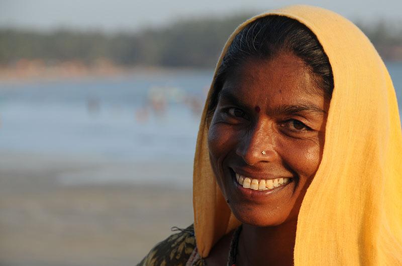 Palolem Beach, Goa, Strände, Strand, Südgoa, Indien, India, Inderin, Frau, Südasien, Bilder, Fotos, Reiseberichte, Foto: Heiko Meyer, www.wo-der-pfeffer-waechst.de