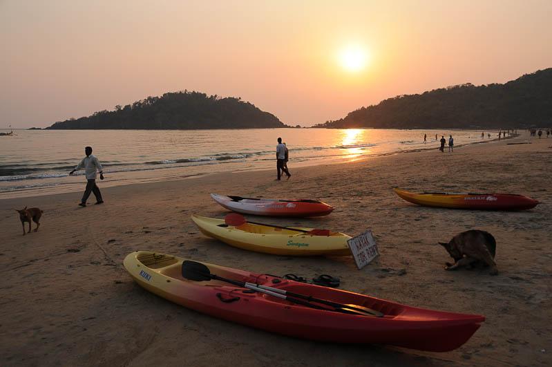 Palolem Beach, Goa, Strände, Strand, Südgoa, Kankon Island, INsel, Boote, Indien, India, Südasien, Bilder, Fotos, Reiseberichte, Foto: Heiko Meyer, www.wo-der-pfeffer-waechst.de
