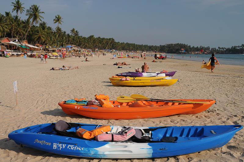 Palolem Beach, Boote, Goa, Strände, Strand, Südgoa, Indien, India, Südasien, Bilder, Fotos, Reiseberichte, Foto: Heiko Meyer, www.wo-der-pfeffer-waechst.de