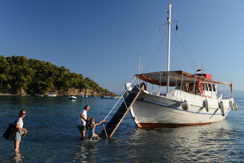 Bootsausflug, Tsougaria Beach, Skiathos, Griechenland, Strand, Strände, Reisebericht, Griechenland, Reisen mit Kindern, Foto: Heiko Meyer, www.wo-der-pfeffer-waechst.de
