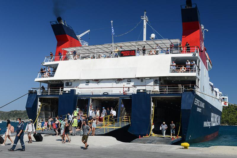 Skiathos, Fähre, Griechenland, Greek island ferry, Inselhüpfen Nördliche Sporaden, Reisebericht, Foto: Heiko Meyer, www.wo-der-pfeffer-waechst.de
