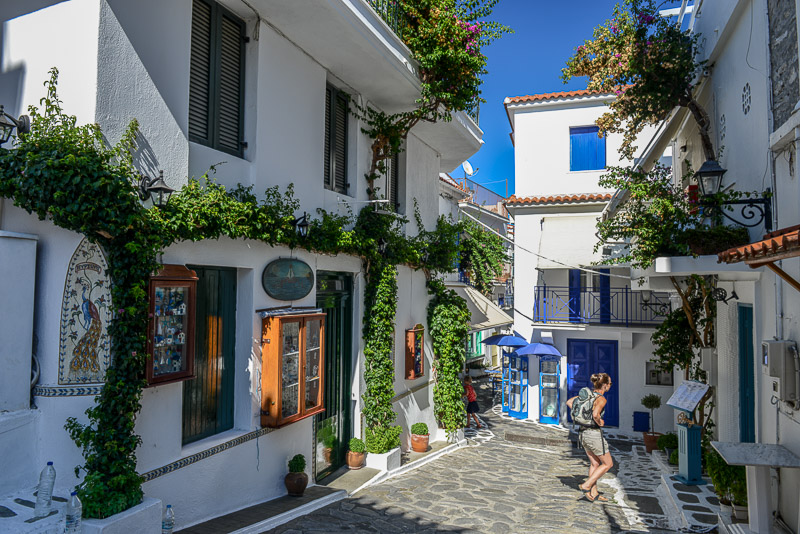 Skiathos-Stadt, Chora, Gassen, Altstadt, Reisebericht, Griechenland, Foto: Heiko Meyer, www.wo-der-pfeffer-waechst.de
